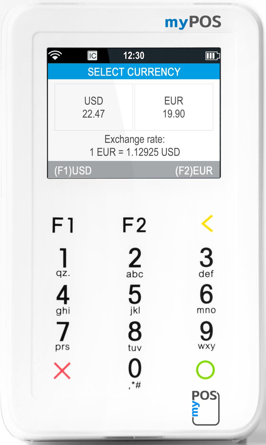 myPOS mini DCC transactie
