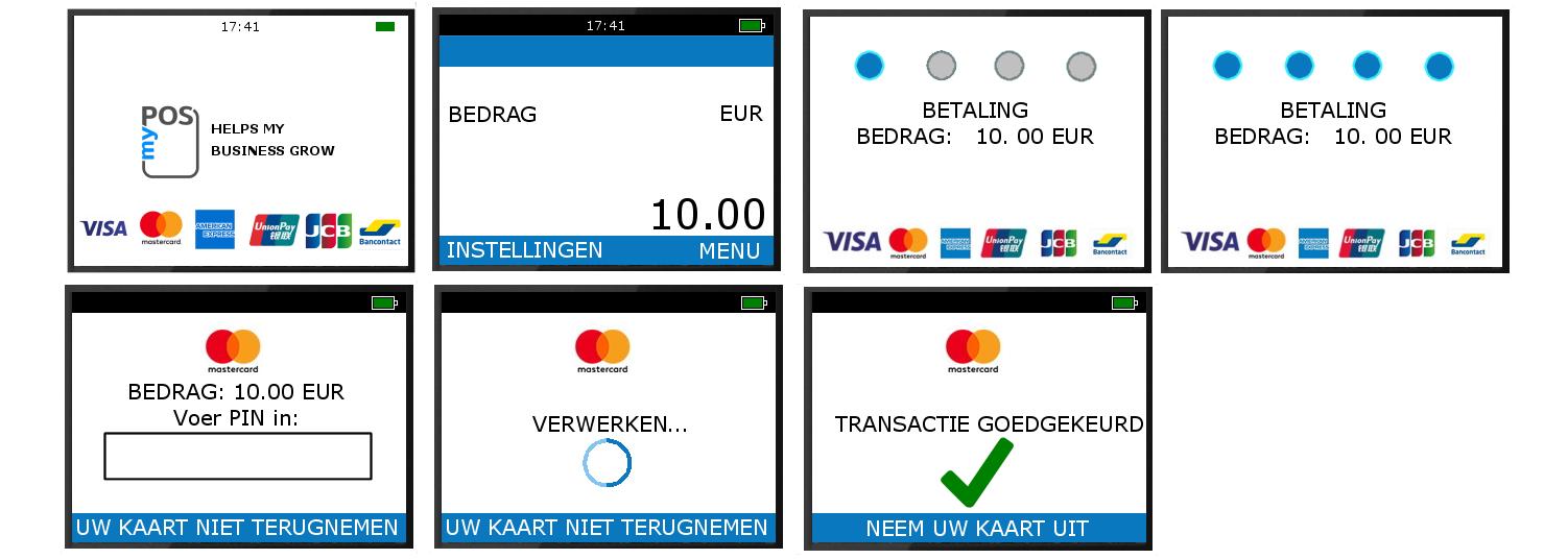 Een betaling uitvoeren op een myPOS betaalterminal is heel eenvoudig. Geen pinapparaat wat zo eenvoudig is.