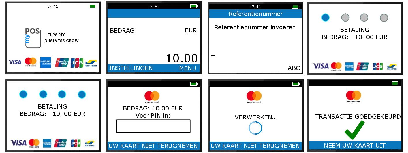 het invoeren van een referentie zoals een factuurnummer bij een betaling op een betaalterminal is heel eenvoudig.