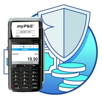 Echte, robuuste volwaardige mobiele betaalterminal met simkaart