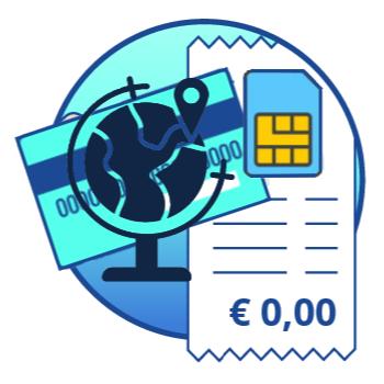 Alle myPOS betaalautomaten zijn standaard voorzien van een gratis data simkaart met Europese dekking. Hiermee kunt u uw betaalautomaat in heel Europa gebruiken zonder extra kosten. U bent dus niet afhankelijk van een WIFI-netwerk, telefoon of een prepaid simkaartje wat u zelf moet opwaarderen.