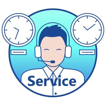 De updates en super-klantenservice via de telefoon, mail en chat blijven de gehele levensduur van uw betaalterminal gratis. Standaard werken wij met een 'omwissel'-garantie van één jaar. Deze kunt u voor slechts € 59 verlengen.