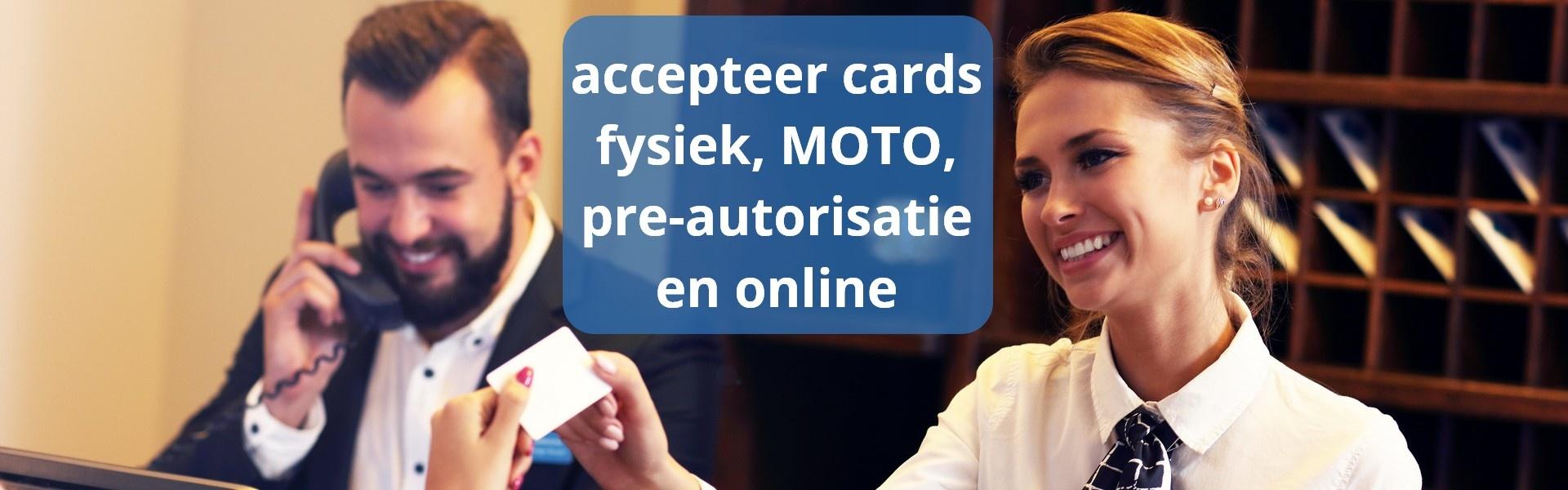 Met MOTO (Mail Order / Telephone Order) kunt u betaalkaarten op afstand accepteren, zonder dat de klant op dat moment aanwezig is. De creditcard-gegevens voert u handmatig in op de betaalterminal, de myPOS-app of in het myPOS-account. Dit is unieke functionaliteit die niet veel andere betaalterminalleveranciers bieden. Met de MOTO-functionaliteit kunt u dus debit- en creditcards via de telefoon, post of e-mail accepteren.