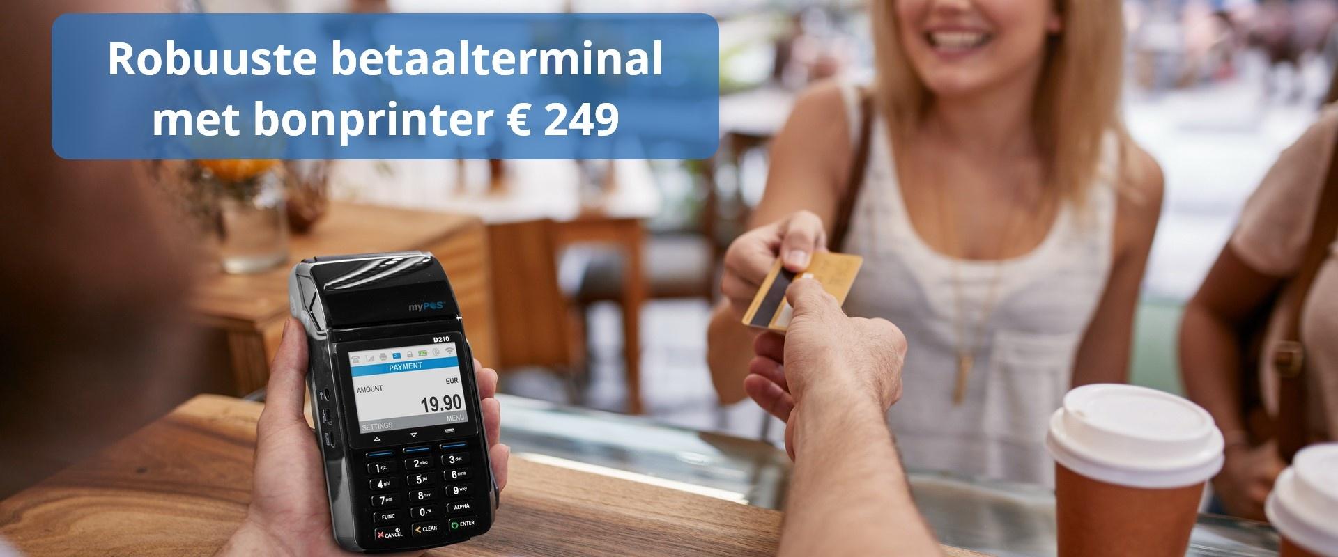 myPOS Combo betaalterminal met simkaart, NFC voor € 249