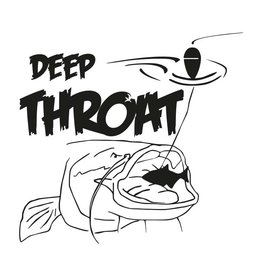 Deep Throat® sticker cut