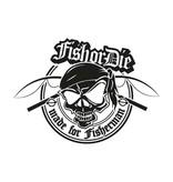 Fish or Die® - made for fisherman new corte la etiqueta engomada