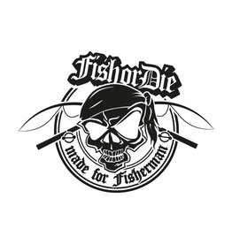 Fish or Die® - made for fisherman new corte la etiqueta engomada