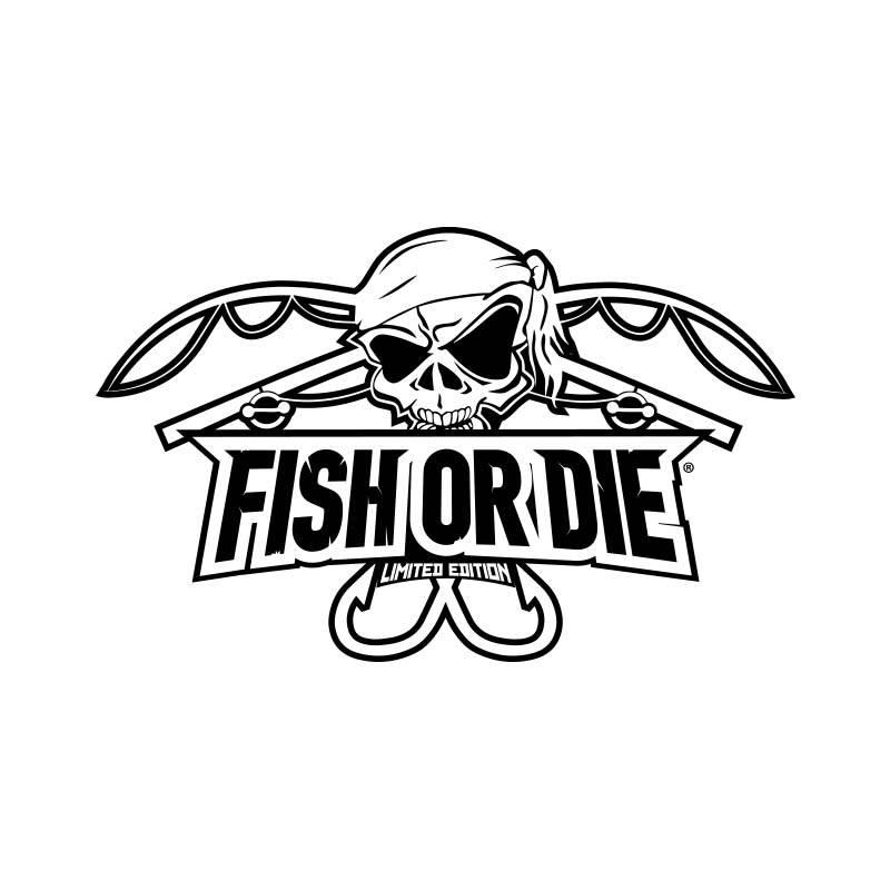 Fish or Die® sticker cut