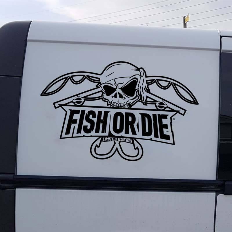 Fish or Die® Aufkleber geschnitten