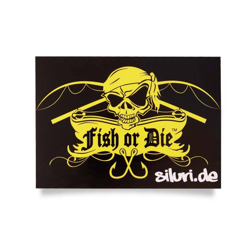 Fish or Die® etiqueta engomada