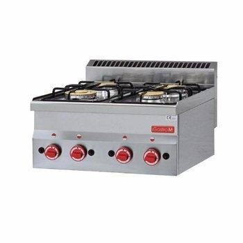 Gasfornuis tafelmodel Gastro M 600 - 4 branders - aardgas