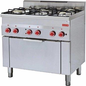 Gasfornuis Gastro M 600 - 5 branders met oven - aardgas