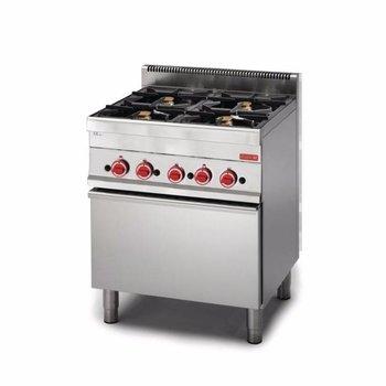Gasfornuis Gastro M 650 - 4 branders - met oven - aardgas