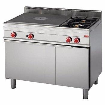 Gasfornuis Gastro M 650 - met plaat en 2 branders - met oven - aardgas