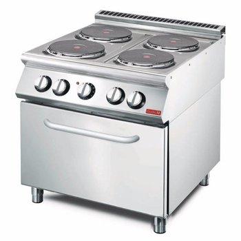 Elektrisch fornuis Gastro M 700 - 4 kookplaten - met oven