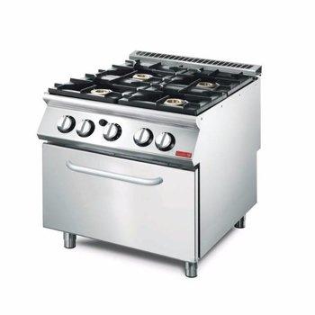 Gasfornuis Gastro M 700 - 4 branders - met oven