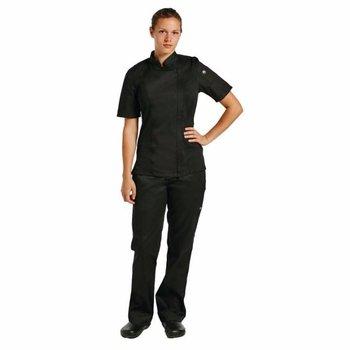 Koksbuis met korte mouw unisex - zwart - S-XL