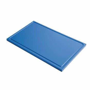 Snijplank Gastro - 1/1GN - blauw - met geul