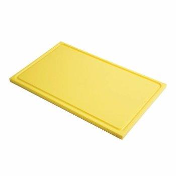 Snijplank Gastro - 1/1GN - geel - met geul