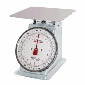 Platform weegschaal RVS - tot 10kg - per 50 gram