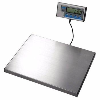 Weegschaal RVS 38x30cm - los dispaly - 120kg - per 50 gram