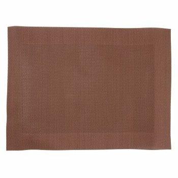 Placemat geweven PVC 40x30cm - bruin - 4 stuks