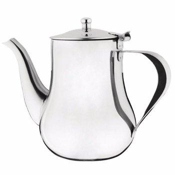 Arabische koffiekan hoogglans RVS - 1L