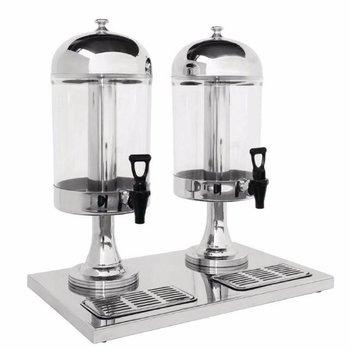 Drankdispenser RVS - ijs middenkern - 2x 6,5L