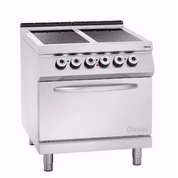 Keramisch fornuis Bartscher 900 master - 4 zones - met 2/1GN elektrische oven