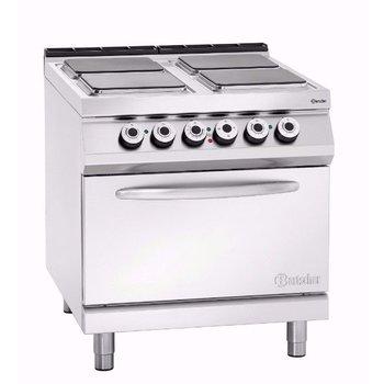Elektrisch fornuis Bartscher 900 master - 4 platen - met 2/1GN oven