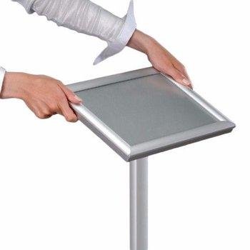 Verstelbare staande menustandaard - aluminium A3
