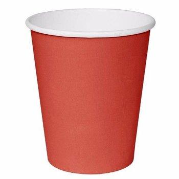 Koffiebekers - 34cl rood - 50 stuks