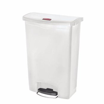 Pedaalemmer smal horizontaal - 90L - wit