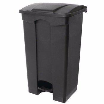 Pedaal afvalbak - luchtdicht - 65L - zwart