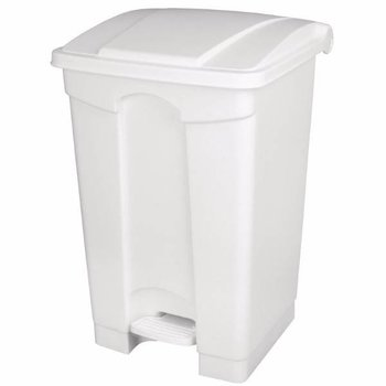 Pedaal afvalbak - luchtdicht - 65L - wit