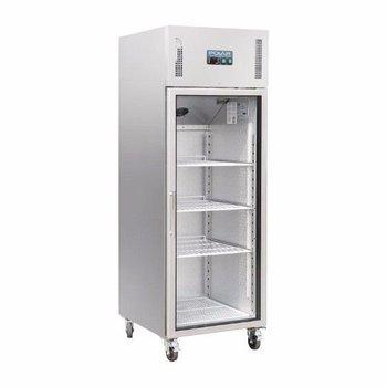 Gastro koelkast glazen deur | enkel | 600L | (H)201x(B)68x(D)80