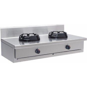 Wokbrander tafelmodel 2 pits - CC/02.BB