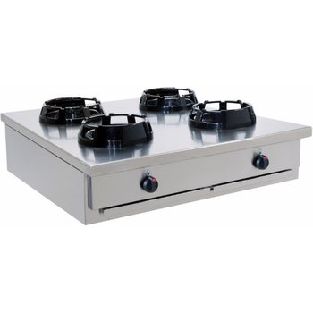Wokbrander tafelmodel 2x2 pits - CC/04.BB
