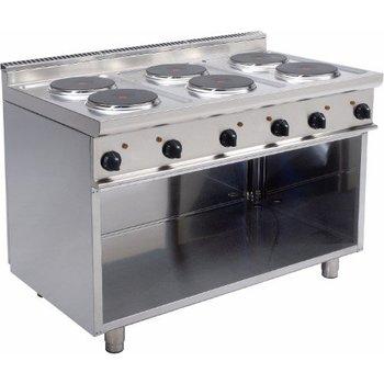Staande elektrische kookplaat 6 platen - E7/CUET6BA