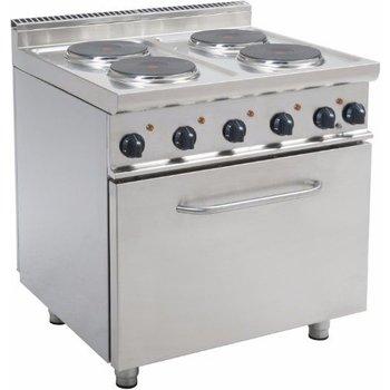 Staande elektrische kookplaat 4 platen - met oven - E7/CUET4LE