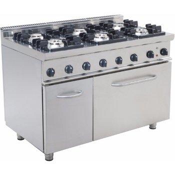 Gasfornuis 6 pits met elektrische oven - E7/KUPG6LE