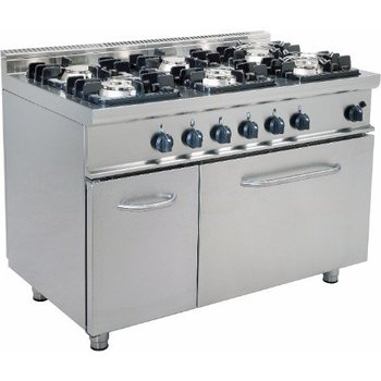 Gasfornuis 6 pits met gas oven - E7/KUPG6LN