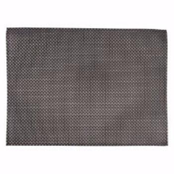 Placemat PVC 45x33cm - zilver grijs - 6 stuks