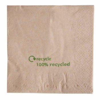 Recycled kraftpapier servetten - dubbel - 2000 stuks