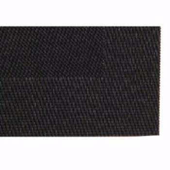 Placemat geweven PVC 40x30cm - zwart - 4 stuks