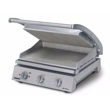 Grill station Roband | boven gegroefd |  8 sandwiches | (H)22x(B)56x(D)49