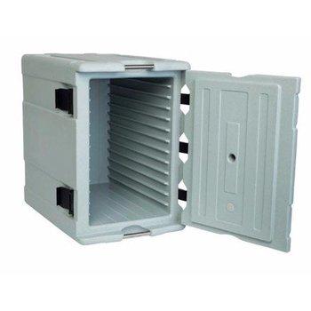 Geïsoleerde container | Front Load | Voedsel | 1/1GN | 12 geleiders | 90L