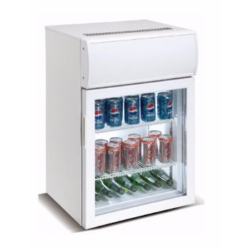 Mini koelkast | glazen deur | 75L | (H)81,5x(B)53,5x(D)45,5