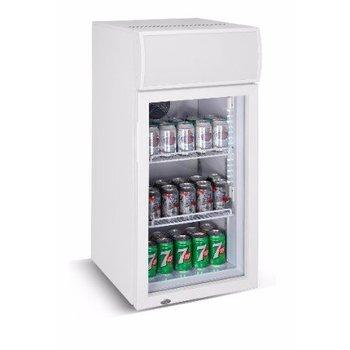 Mini koelkast | glazen deur | 80L | (H)98,5x(B)46x(D)49,5
