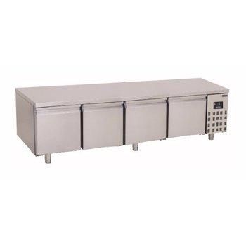 Lage koelwerkbank Pro Line | 4 deurs | 360L | (H)60x(B)213x(D)70